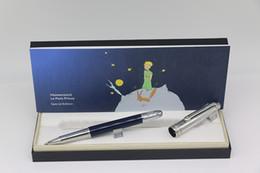 Luxo o pequeno príncipe série MB Roller caneta para cima de prata e para baixo do corpo azul com prata Guarnição escritório caneta oferta escola presente em Promoção