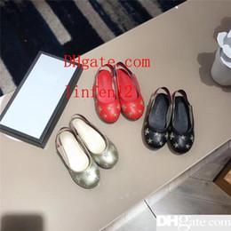 Gold Sandals Girl Australia - Designer Girls Summer Shoes Lovley Princess Gold Sandals Genuine Leather Sandals Emboidery Wedding Shoes Soft Casual Summer Wearing rt5
