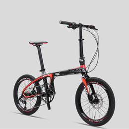 $enCountryForm.capitalKeyWord NZ - New Brand Carbon Fiber light folding bicycle outdoor sports 20 inch Alumunium wheel 9 20 22 speed bicicleta dual Oil disc bike