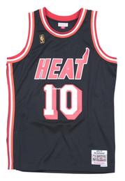 Tim Hardaway # 10 Sewn Mitchell Ness Top HWC Jersey de alta calidad - Negro para hombre Chaleco Talla superior XS-6XL Camisetas de baloncesto cosidas Ncaa en venta