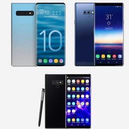 4g Wifi Cell Phones Canada - Free DHL Goophone S10 plus Note 9 Cell Phones unlocked phone quad core 6.5inch full Screen Show 128GB fake 4g lte android phone Sealed box
