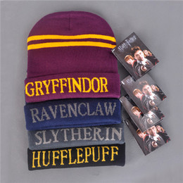 $enCountryForm.capitalKeyWord Australia - Fashion Movie Harri Potter Figure Hats Cap Beanie Preppy Costume Halloween Christmas Gift Gryffindor Ravenclaw Letter Hats