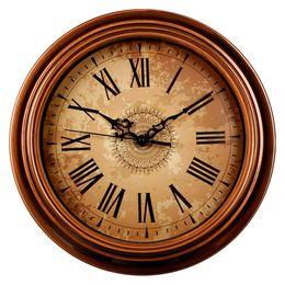 $enCountryForm.capitalKeyWord Australia - 12-inch Silent Non-Ticking Round Wall Clocks Decorative Vintage Style Roman Numeral Clock Home Kitchen Living Room Bedroom