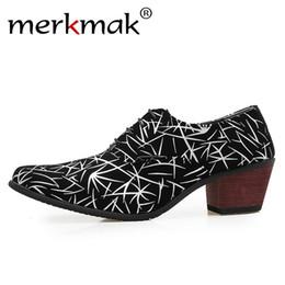 $enCountryForm.capitalKeyWord Australia - Merkmak High Heel Men Leather Shoes Fashion Pattern Casual Dress Shoes Man Dance Performance Male Lace Up Soft Footwear