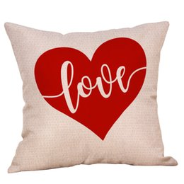 $enCountryForm.capitalKeyWord Canada - Valentines Pillows Case 2019 Valentine's Day stripe Letter Love print Pillow Covers Sofa Nap Cushion Cover Gifts Decor 23 Colors 45*45CM
