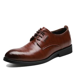 $enCountryForm.capitalKeyWord Australia - New High Quality Genuine Leather Men Brogues Shoes Lace-Up Bullock Business Dress Men Oxfords Shoes Male Formal Shoes
