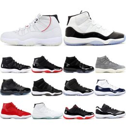 Shoe Stitching Threads NZ - J11 Mens 11s Basketball Shoes AIR Concord 45 Platinum Tint 11 Space Jam Gym Red Win Like 96 XI Women Designers Men Sport Trainers Sneakers
