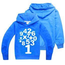 boys cotton hoodies 2019 - MATHS Arabic Numerals Printed Kids Hoodies Sweatshirts 2 Colors 6-14y Boys Long Sleeves T-shirt kids designer clothes bo
