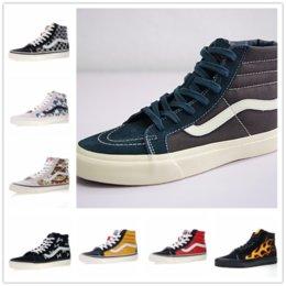 9e3fbfd56d 2018 vans SK8-Hi Classic Old Skool White Black zapatillas de deporte Women  Men High-top Low Canvas Casual Skate Shoes E2013