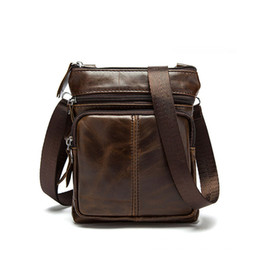 Color Leather Bags Australia - 2019 Hot Selling Vintage Large Capacity Multi Color Genuine Leather Messenger Bags For Men