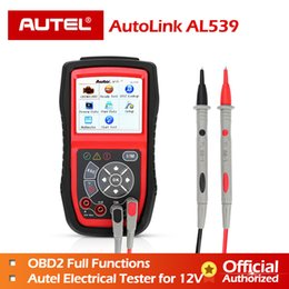 $enCountryForm.capitalKeyWord Australia - Autel AL539 OBDII Code Reader OBD Car Scanner Electrical Tester AL 539 12V AL539B AVO Meter Battery Diagnostic Tool