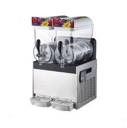 $enCountryForm.capitalKeyWord Australia - Free shipping worldwide 2*15L frozen drinks making machine margarita cooling slush machine ICE slushie maker ice slushie making machine