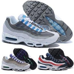 fe65c84716 95 TT OG 20th Anniversary Men Running Shoes Solar Red Pull Tab Grape Patch  Release Triple Black White 95S Trainers Designer Sneakers 36-46