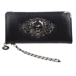 cool women wallets Australia - Cool Retro Skull Wallet For Women Vintage Clutch Bag Black