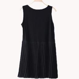 $enCountryForm.capitalKeyWord UK - 2017 New Arrival Plus Size Slim Cute Women Summer Dress Loose Casual Sleeveless O-neck Chiffon Pleated Dress For Female Xt0004