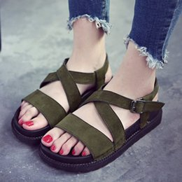 $enCountryForm.capitalKeyWord Australia - Casual PU Leather Summer Women Sandals Flat Bottom Female Shoes Fashion Korean Version Fish Mouth Sweet Muffin Wedge Students