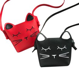 7ccc10dfb2 FGGS-2 Pack Little Girls Purses Cute Cat Shoulder Crossbody Bag (Red And  Black)