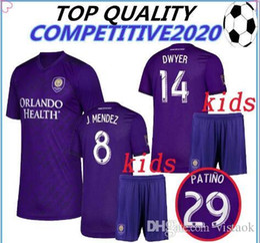 Orlando City Shirt Kaka Australia - 19 20 Kids Orlando City SC soccer jersey 2019 2020 J.Mendez Colman DWYER KAKA Orlando Football Camisetas football shirts size S-XL