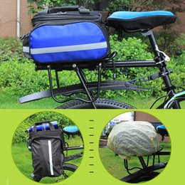 Bicycle Bag Removable Carrier Rear Rack With Reflective Strips Canvas Saddle Accessories Travel Zipper Pannier Waterproof