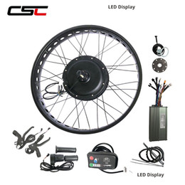 bike wheel 26 front Australia - 20'' 24'' 26'' x 4.0 wide fat tire electric bike conversion kit Snow Beach e bicycle 48v 1000W LED display Hub Motor Front or Rear Wheel Kit