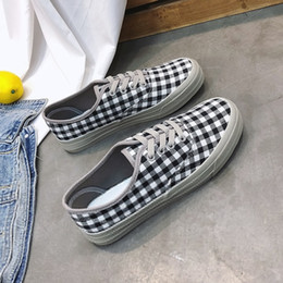 Spring Fall Canvas Shoes NZ - Women Flats New Women Casual Shoes Plaid Women's Canvas Shoes Lace-Up Solid Spring Fashion Shoes Wholesale Free shipping as067