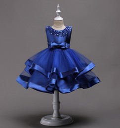 $enCountryForm.capitalKeyWord Australia - Summer girl satin princess skirt small host Pengpeng skirt flower girl dress dress hand-beaded multi-color performance suit