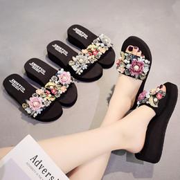 Ladies Flat Heel Footwear Australia - Litthing Summer Slippers Casual Outside Women 2019 Fashion Female Ladies Flip Flops Footwear Beach Flat Shoes Low Heel chinelo