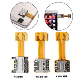 iphone dual nano sim adapter NZ - Cheap Card Adapters 1PC Universal TF Hybrid Slot Dual SIM Card Adapter Micro SD Extender Nano Cato Android Phone