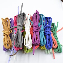 $enCountryForm.capitalKeyWord Australia - NEW 27 Colors 2.6x1.5mm 5M Flat Faux Suede Korean Velvet Leather Cord Materials DIY for Jewelry Making Bracelet&Necklace