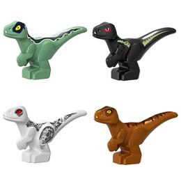 Jurassic block online shopping - 2cm tall Mini Jurassic Dinosaur Baby Set Building Block Toy Figure Indoraptor T Rex World Small Dino Brick