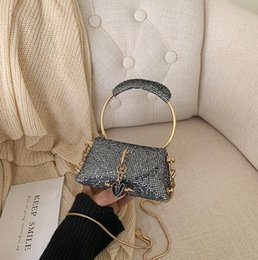 lady mini handbag Australia - Designer Luxury Handbags Purses Ladies Sequins Chian Shoulder Bags Mini Crossbody Bags New Style Wholesale Girl Dating Bag