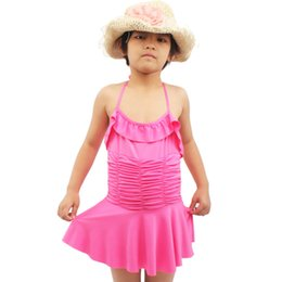 d44b89de9320a KS017 Children Swimwear Girls Swimsuit Conjoined Bathing Suit Female Skirt  6-10 Years Old Have Four Colors As You Choose