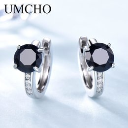 natural sapphire earrings Australia - Umcho Natural Sapphire Earrings For Women 100% Real 925 Sterling Silver Earrings Female Engagement Fine Jewelry Fashion 2018 New MX190726