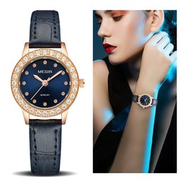 watches roses Australia - Women Luxury Watch Reloj Mujer 2018 MEGIR Twinkly Small Women Watches Rose Gold Free Shipping Damen Uhren Montres Femme Dropship SH190929