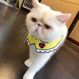 knit dog collar 2019 - Hand-knitted Swill Scarf Cat Dog Scarf Fagadou Garfield Chai Corgi Fat Dog Decoration Puppy Dog Cat Collars For Small Do