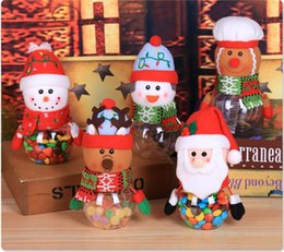$enCountryForm.capitalKeyWord Australia - Christmas Candy Jar Santa Claus Snowman Elk Gingerbread Man Designs Cookie Candy Gift Clear Container Bottle Christmas Decorations