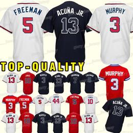 59f118f9f7b Atlanta Braves Jerseys 5 Freddie Freeman 3 Dale Murphy 44 Hank Aaron 10 Chipper  Jones superior quality Top MEN Jerseys