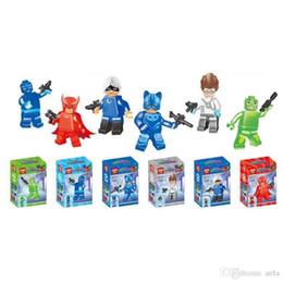$enCountryForm.capitalKeyWord NZ - 30Pcs 5set PJ masks 5cm Characters Action Figure Toys Building Blocks Sets Classic Best Toy Children Gift