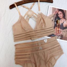 $enCountryForm.capitalKeyWord Australia - Wriufred French Bralett Sexy Lace Lingerie Plus Size Wire Free Thin Bra Suit Girl Underwear Big Chest Bra Set Y19070201