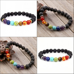 Braid oil online shopping - Free DHL Lava Stone Diffuser Bracelet Meditation Healing Braided Rope Strap Bracelet Natural Essential Oils Holistic Aromatherapy B124S Y