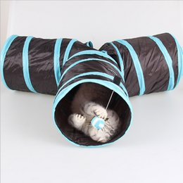 Pp Housing UK - tunnel 3 WAY Y Shape Foldable Pet Puppy cat pet play house Animal Kitten Toy Exercise Tunnel Cave