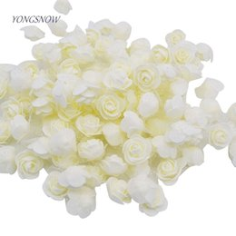 $enCountryForm.capitalKeyWord NZ - 50pcs lot 3.5cm Pe Foam Rose Multi-use Artificial Flower Head Handmade With Tulle Diy Wedding Home Party Decoration Supplies C19041701