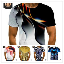 Wholesale casual shirt designs england resale online - Fashion D Printing Men s T shirt Summer Short Sleeve Tee Sweat Shirt Sports Joggers Casual Tshirts Quick Dry Trend Design Tops M XL LY617