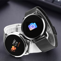 $enCountryForm.capitalKeyWord Australia - Steel Smart Fitness Bracelet Tracker with OLED Touch Screen Heart Rate Blood Pressure Monitor Health Sports Smartband Q8 Wristwatch Band