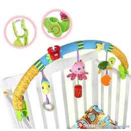 Toys Hangings For Car Australia - Wholesale- Kids toys rattles bed Stroller Plush Toy car clip lathe hanging Baby seat bed toys for infants brinquedos LF142