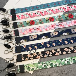 mobile phone lanyards Australia - Mobile Phone Straps Small Fresh Leaves Neck Strap Lanyards for keys ID Card Gym Mobile Phone Straps USB badge holder DIY Hang