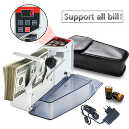 Tragbarer Geldzähler für Geldscheine Bill Cash Banknote Ticketschalter Mini-Zählmaschinen Finanzausrüstung EU-Stecker im Angebot