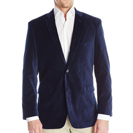 Casual blazers style for men online shopping - Navy Velvet Men Tops Blazer for Prom Party Casual Clothes Latest Style Notched Lapel Evening Men Suit Jacket