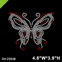 Wholesale motif design for clothing for sale - Group buy New Design butterfly Hotfix Rhinestone Motif for clothes Rhinestone Transfers DIY DH2363