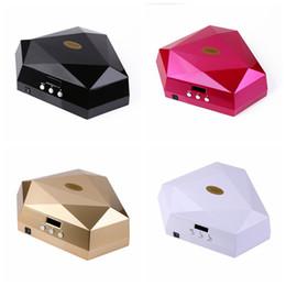 60W Double Hands Nail Dryer UV LED Lamp Diamond Shape UV LED Nail Lamp Apply For UV Gel Nail Polish RRA616 on Sale